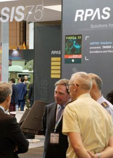 AERTEC Solutions' stand at FEINDEF 2019, the International Defence & Security Exhibition