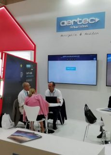 AERTEC Solutions stand  in the Paris Air Show 2019, Le Bourget