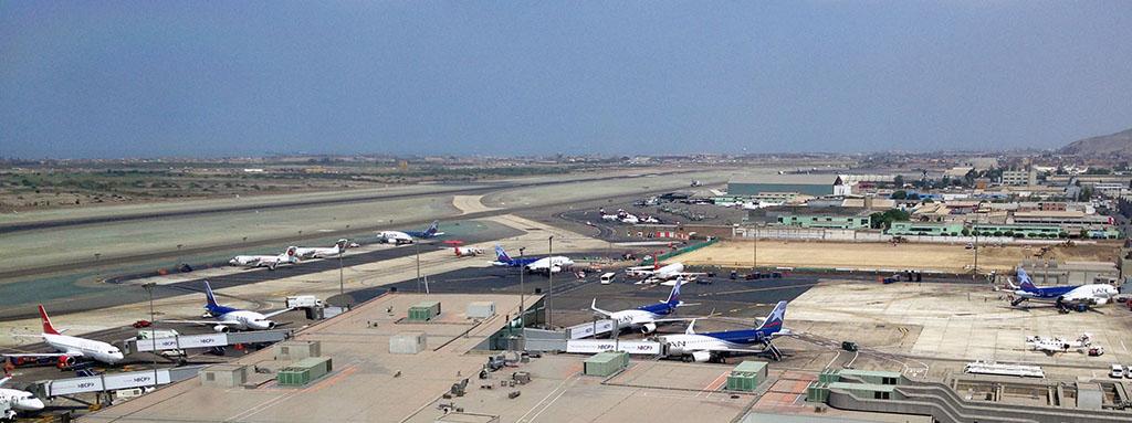 Aeropuerto Jorge Chávez en Lima, Perú