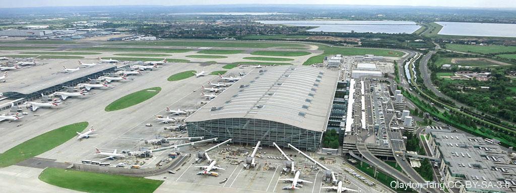 Infografía sobre los aeropuertos de Londres