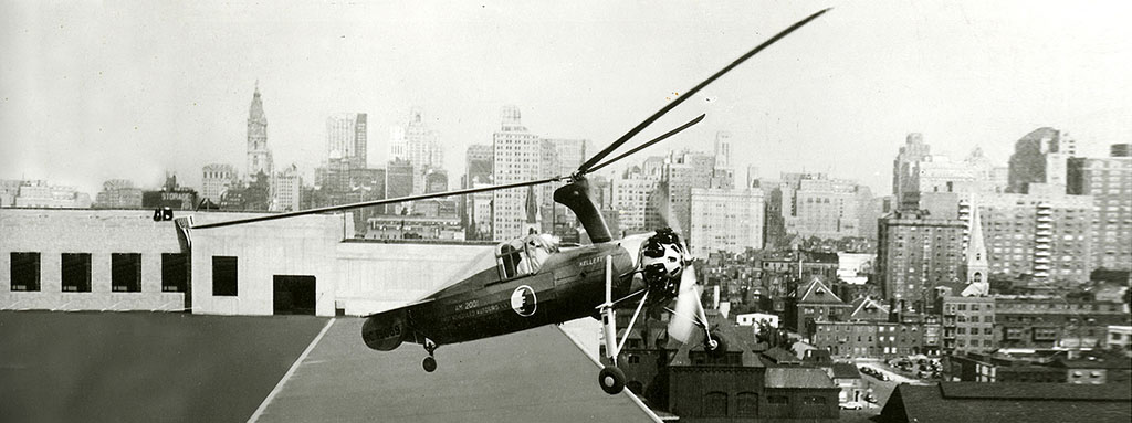 Airmail service using autogyros