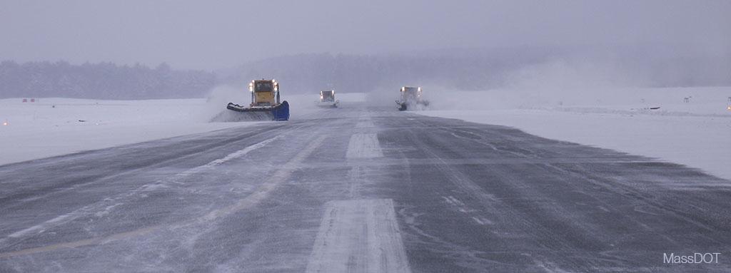 MassDOT snow at the airport