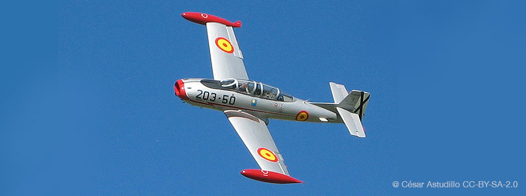 Avión de combate Saeta - Header