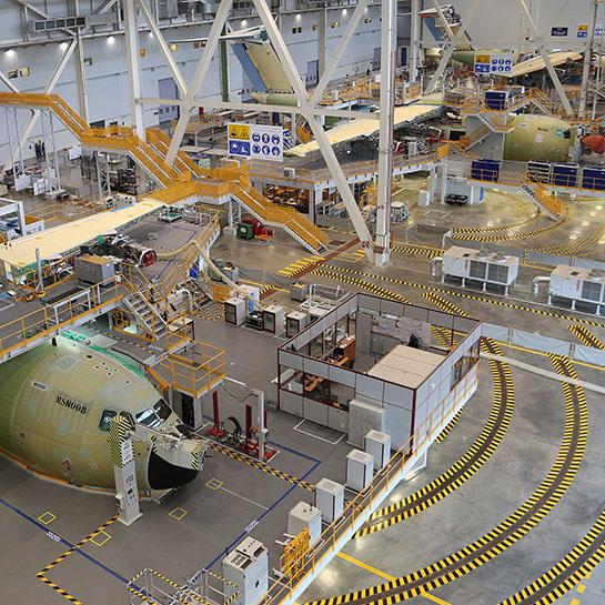 Línea de montaje final del A400M de Airbus