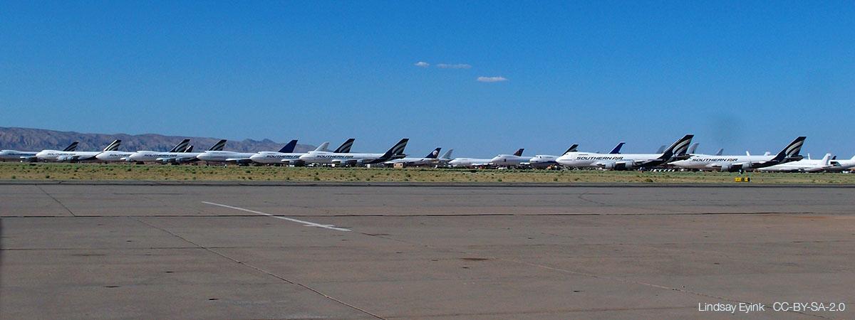 Long-term aircraft parking