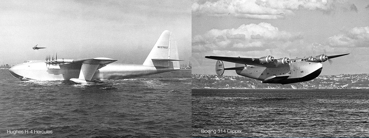 Hughes H-4 Hercules & Boeing 314 Clipper