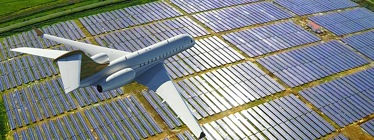 Photovoltaic panels near the airport