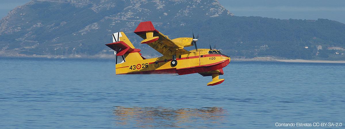 Canadair del 43 Grupo del Ejército del Aire de España