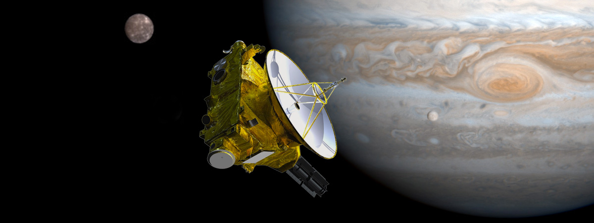 New Horizons probe, near Jupiter and its moons