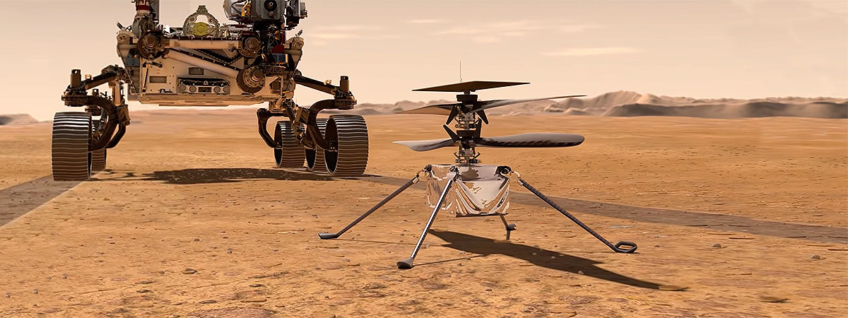 Ingenuity, a dron on Mars